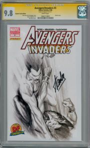 Avengers Invaders #3 Alex Ross DF Variant CGC 9.8 Signature Series Signed Stan Lee Marvel comic book